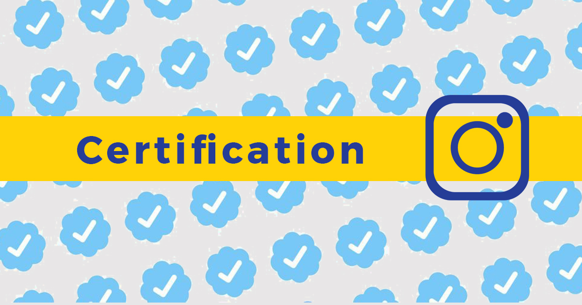 Image Entete pour Comment obtenir une certification instagram ? post