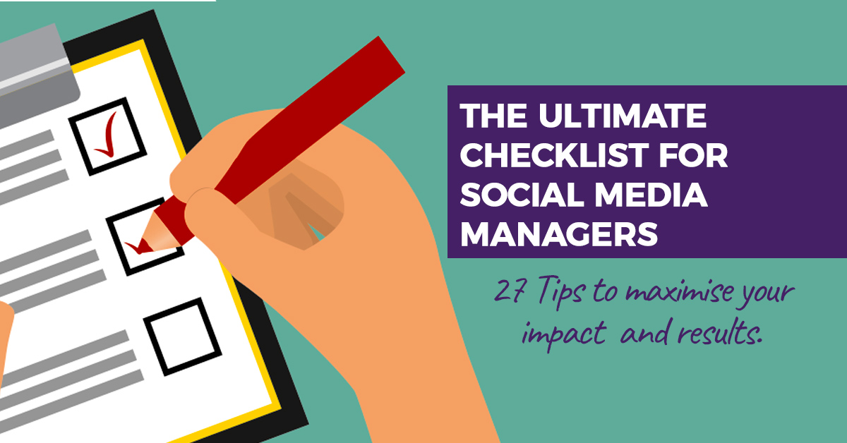 Ultimate Checklist for Social Manager