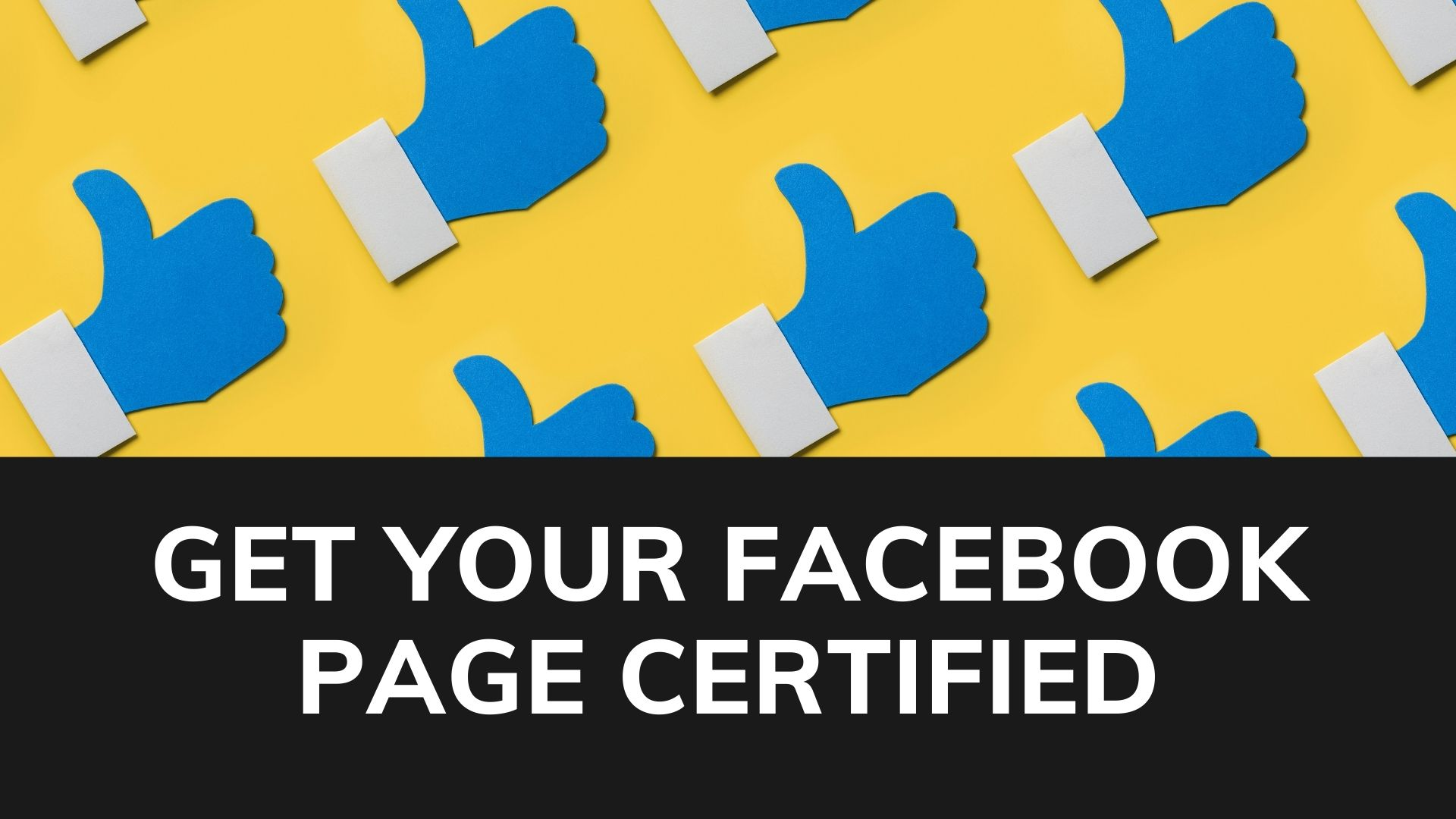 Get your facebook page certified