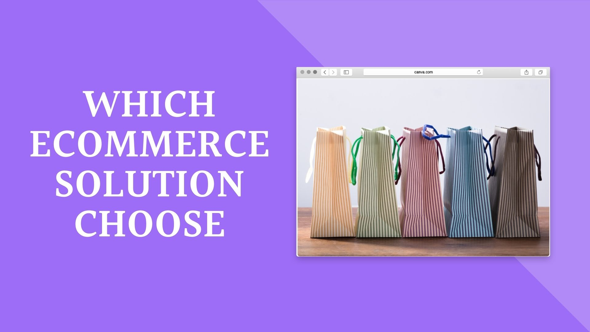 Which E-commerce solutions to choose?