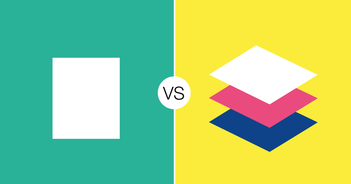 The two main streams of design: Flat design and Material design
